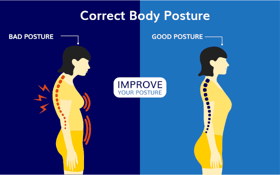 how to fix slouching by correct posture