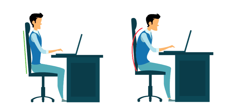 Correct Body Posture while sitting
