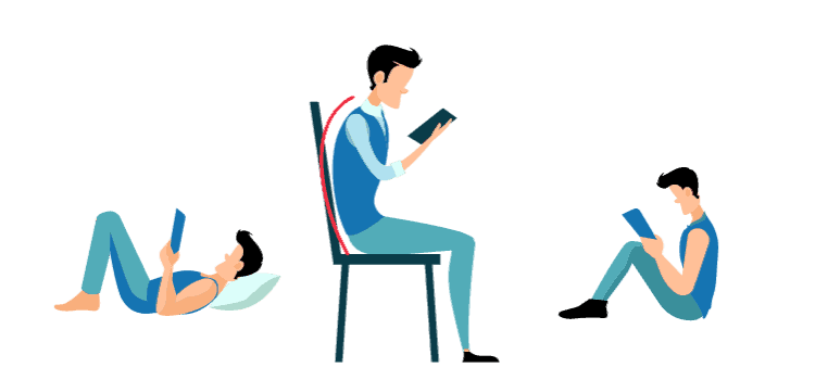 Correct Body Posture while using phone