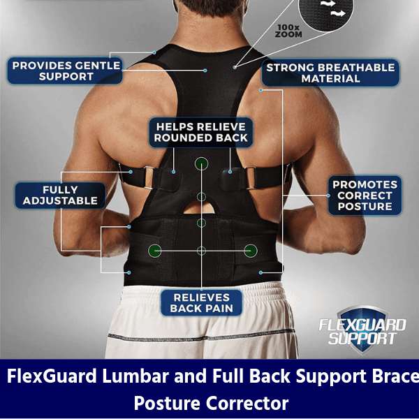 FlexGuard Lumbar and Full Back Support Brace Posture Corrector review
